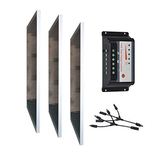 SHIJING Photovoltaik-Panel, 12 V, 100 W, 3-teiliges Zonnepanelen-Set, 300 W, 36 V, Solar-Laderegler, 12 V/24 V, 30 A, LCD Wohnmobil Wohnmobil