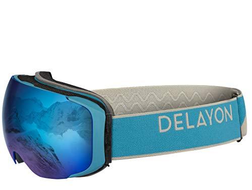 DELAYON Skibrille Explorer Goggle Brillentauglich (OTG) blau/blau