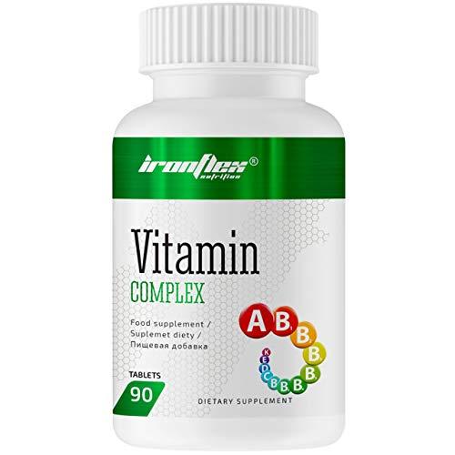 IronFlex Vitamin Complex 1er pack x 90 Tabletten - Komplex aus Vitaminen und Mineralien mit Alpha-Liponsäure - Brennnessel und Acai-Beeren-Extrakt - Piperin