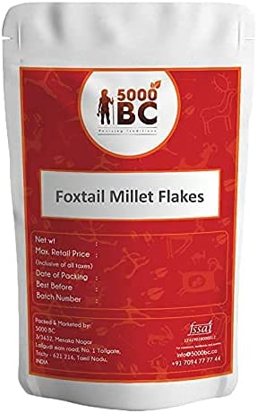 Saheb 5000 List price BC Foxtail Today's only Millet Thinai Flakes aval 100 g