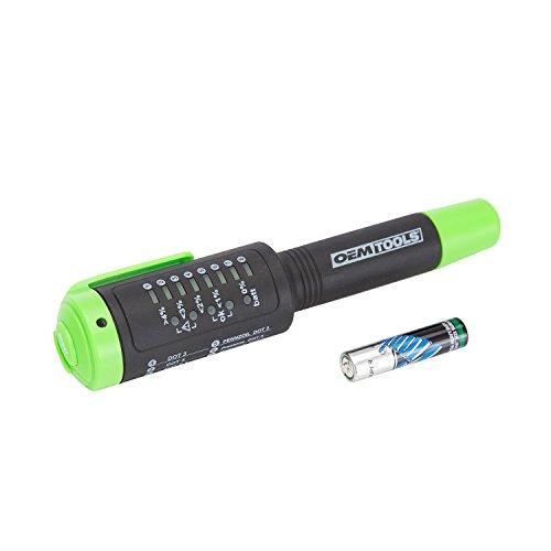 OEMTOOLS 25269 Brake Fluid Tester DOT 3, DOT4 Brake Fluid, DOT 5.1, Brake Tech Tools, Tests Formulas of Brake Fluid for Excess Moisture, Fluid Test Pen