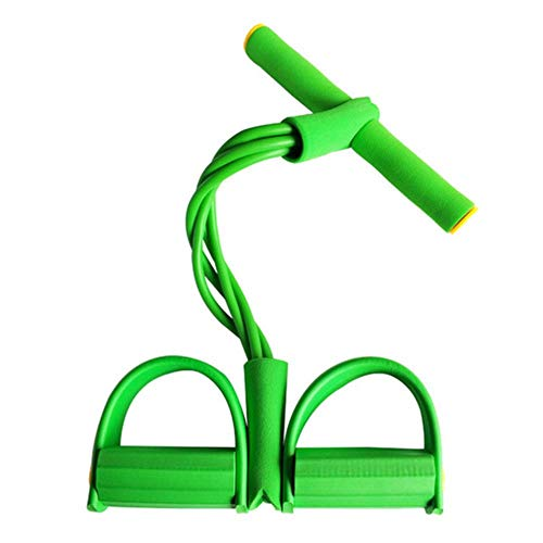 XTR 4 Resistanc Elastic Pull Ropes Exerciser Rudergerät Belly Resistance Band Elastic Bands Home Gym Sporttraining für Fitnessgeräte, grün