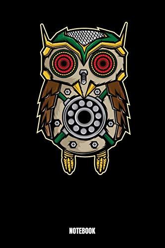 Notebook: Owl Notizbuch: Notizbuch A5 karierte 110 Seiten, Notizheft / Tagebuch / Reise Journal, perfektes Geschenk für Sie, Ihre Familie und Freunde, ... Notizbuch wird sicherlich die tierische Se