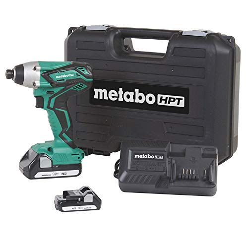 "Metabo HPT 18V Cordless Impact Driver Kit, Two Lithium Ion Batteries, Powerful 1, 280 In/Lbs Torque, Responsive Variable Speed Trigger, LED Light, Keyless ¼"" Chuck, Lifetime Tool Warranty (WH18DGL)"