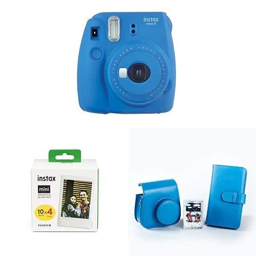 Fujifilm Instax Mini 9 - Cámara instantanea, Cobalt Azul + Pack de 40 películas + Kit de Accesorios (Funda, Álbum, Marco): Amazon.es: Electrónica