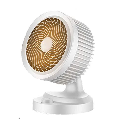 Vertical Mini Calefactor Eléctrico,Portable Cerámica Ventilador Calefactor Protección Contra Sobrecalentamiento Oscilación Automática 2 Engranajes Ajustables Calefactor Eléctrico -Un 23x15x31cm