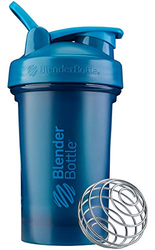 BlenderBottle Classic V2 Shaker Bottle Perfect for Protein Shakes and Pre Workout, 20-Ounce, Ocean Blue
