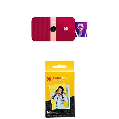 Oferta de KODAK Smile Cámara Digital de impresión instantánea, Rojo + Paquete de 50 Hojas