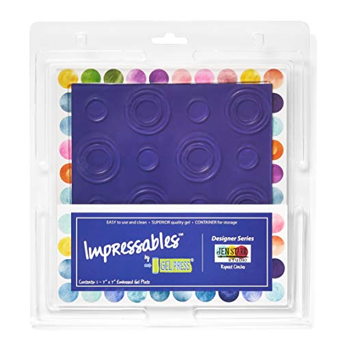 "Gel Press Gel Plate, Multicoloured, 7""x 7"""