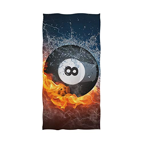 TSWEETHOME 8 Ball Pool Best Bath Towel Bath Sheets 1 Pack (32 x 64 Inch) Oversized Extra Large Super Absorbent Quick Fast Drying Soft 100% Cotton Towels, Towels for Body Bathroom Travel (1PCS)