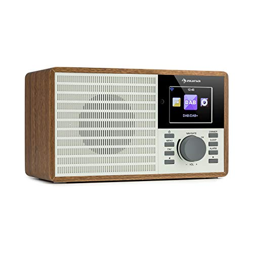 auna IR-160 SE - Internetradio, DAB+ & UKW Radio, Mediaplayer: Spotify Connect/BT/USB/UPnP/DLNA, 2,8