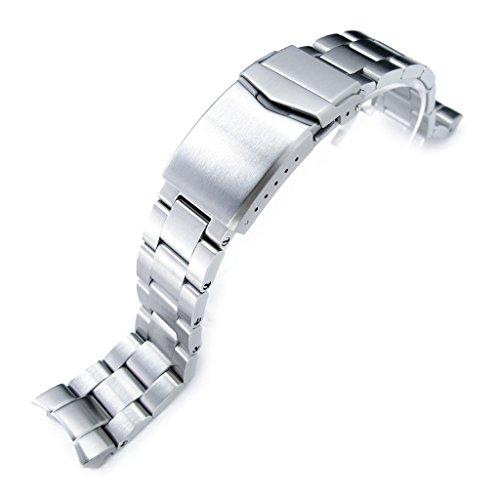 20mm Super-O Boyer Watch Bracelet for Seiko SKX013, Brushed 316L Stainless Steel, V-Clasp