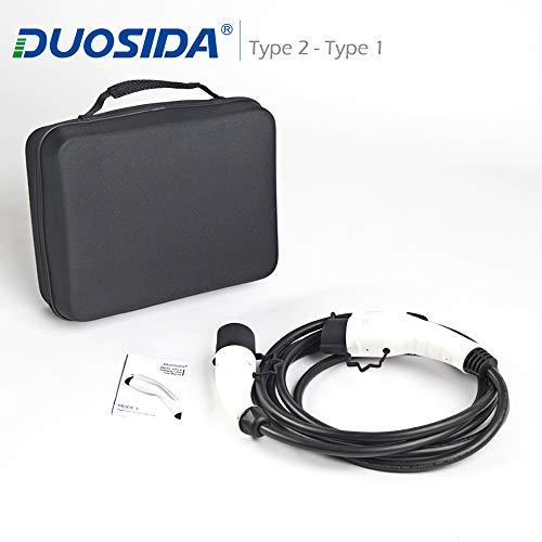 DUOSIDA Cable de carga - Tipo 1 a Tipo 2 - 16A -