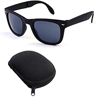 Unisex 4105 Vintage Style Foldable Polycarbonate Solid Color Sunglass With Box Frame Mercury Lens