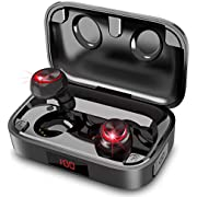 2021 Bluetooth Earphones, Hihiccup Wireless Earphones, Bluetooth 5.0 + EDR, Hi-Fi Heavy Bass, 204 Hours Continuous Operation, 3,000 mAh Charging Case, LED Display Power Display, Automatic Pairing, Bluetooth Earphones, IPX7 Waterproof, Binaural, Left and Right Separated, Handsfree Calling, AAC Compatible, CVC8.0 Noise Canceling, Comfortable Wearing, WEB Meeting/Teleworking/Commuting