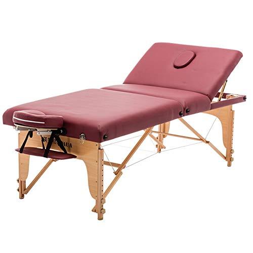 Rachael Schönheitssalon Klappbett Buche Wasserdicht Verbreiterung Massageliege Spa Schröpfen Gesundheit Körper Bett,1