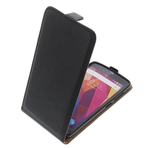 foto-kontor Tasche für ZTE Blade L5 Plus Smartphone Flipstyle Schutz Hülle schwarz
