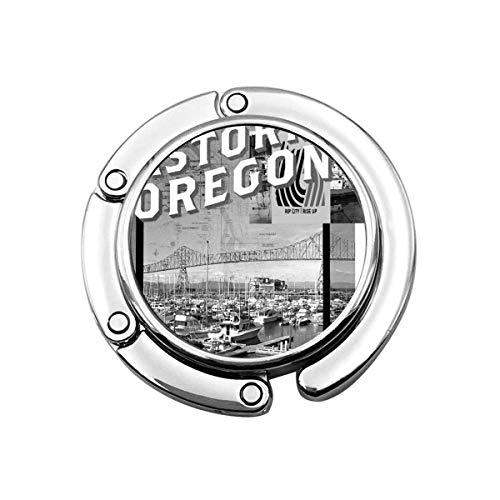 Viaje por Carretera a través del Tenedor Plegable del Monedero de Oregon, Gancho del Bolso de la suspensión del Bolso para el Escritorio de la Mesa