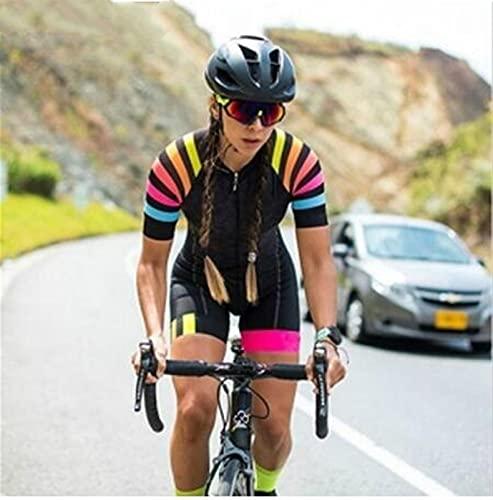 Donne Professione Triathlon Vestiti Abbigliamento da ciclismo Skinsuits Rompere da donna tuta TRIATHLON Kit &12373 (Color : 5, Size : Small)