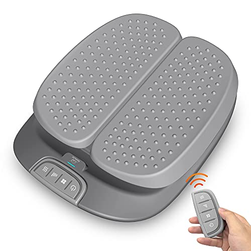 SNAILAX Vibration Foot Massager with Heat,Remote Control,Adjustable Vibration Speed Electric Foot Massager Machine for Circulation,Plantar Fasciitis, Pain Relief