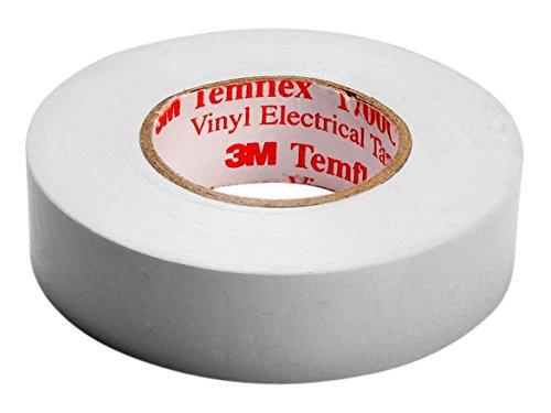 3M TWEI1525 Temflex 1500 Vinyl Elektro-Isolierband, 15 mm x 25 m, 0,15 mm, Weiß