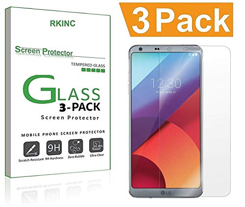 for LG G6 / LG G6 Plus Screen Protector, [3 Pack] RKINC [Tempered Glass] [Case Friendly] [Anti-Scratch] [0.3mm 9H 2.5D] Ultra-Clear Tempered Screen Protector Film for LG G6 2017-3Pack
