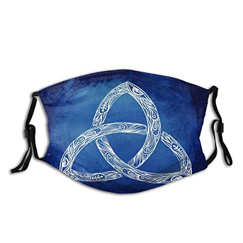 WINCAN Triquetra_ Celtic, Body, Mind And Spirit Symbol Design Unisex Washable and Reusable Cotton Warm Face Protection for Outdoor