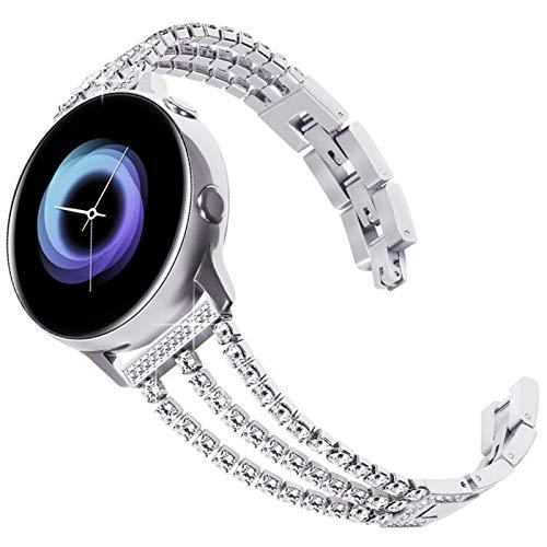 DALIANMAO Correa de reloj de mujer de 20 mm y 22 mm, hebilla de acero inoxidable para Huawei GT de 46 mm (color de la correa: plata, ancho de la correa: 20 mm)