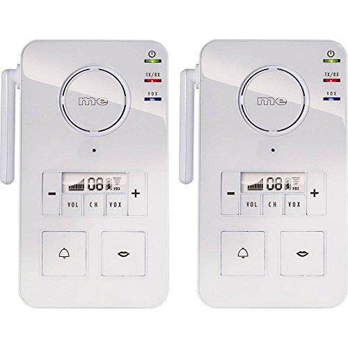 M-E MODERN-ELECTRONICS FS 2.1 Interphone Classique Radio 446 MHz 2000 m Blanc