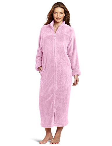 Casual Moments Women's 52' Breakaway Zip Front Robe, Lavender, X-Large