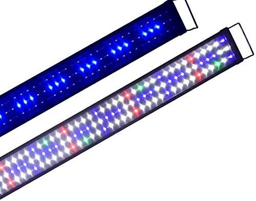 Boomersun Klassik vollspektrum LED5730 Aquarium Beleuchtung Lampe mit Mondlicht Tageslichtsimulation Lampe Reef Coral Fish Wasserpflanzen Süß-/Meerwasser Aquarien 120-150 cm
