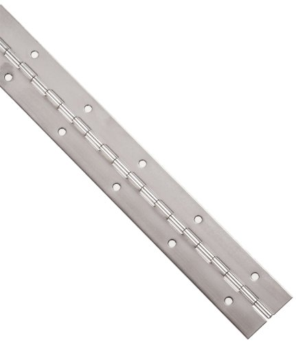 Small Parts 3-0635-0727 Stainless Steel 304 Continuous Hinge with Holes, Polished Finish, 0.06' Leaf Thickness, 1-1/2' Open Width, 1/8' Pin Diameter, 1/2' Knuckle Length, 3' Long (Pack of 1)