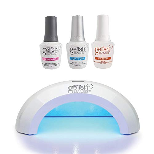 Gelish Mini Pro 45 Second LED Curing Gel Light Lamp, Gelish Terrific Trio Gel Polish Essentials Kit