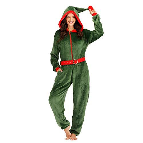 EraSpooky Disfraz de Duende Sexy de Navidad Onesie para Mujer Disfraz de Fiesta Disfraz Divertido para Adulto