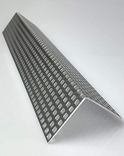 Lochblech Alu Winkel QG 5-8 Winkelprofil 1,5mm Länge 1000mm, Individuell nach Maß (Schenkel: 50mm x 50mm)
