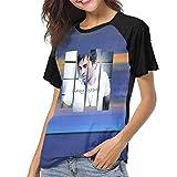 MatthewConnersw Woman Enrique Iglesias Greatest Hits Music Band Baseball Raglan TopsComfortable T-Shirt M Gift Black