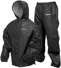 FROGG TOGGS Men's Pro Lite Waterproof Rain Suit, Carbon Black, Medium/Large
