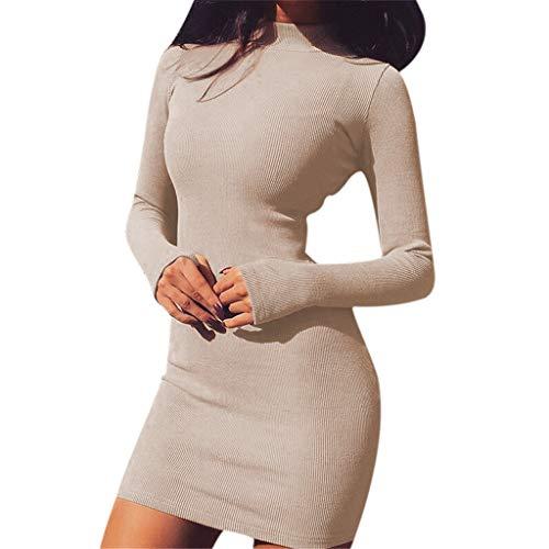 Vestido Corto Mini Sexy Ajustado para Mujer Otoño Invierno,PAOLIAN Vestido de Punto...