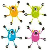 Baker Ross Rastreadores de paredes de monstruos con pies pegajosos (paquete de 6) Juguetes novedosos para niños, fiesta perfecta, botín o bolsa de premios, colores surtidos
