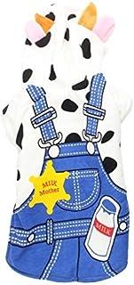 eDealMax diseño de la vaca de pecho del Animal doméstico Individual Con Capucha Ropa Abrigo,