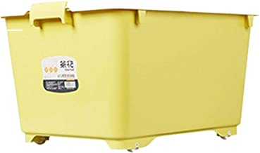 Storage Basket Laundry Basket Large/Under Bed Plastic Storage (Color : Yellow, Size : 46.6 * 54.6 * 37.2cm)