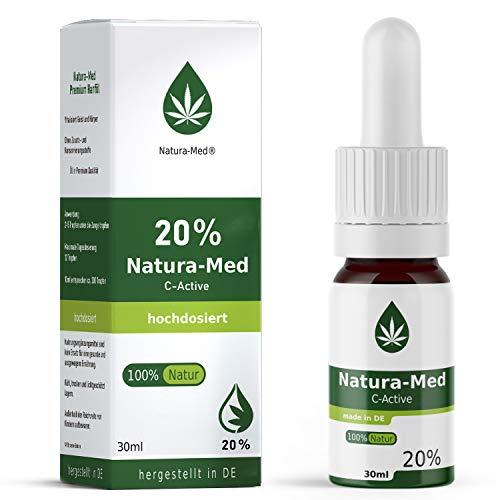 Natura-Med20% C-Active Natur Öl Tropfen 30ml |100% reines Naturprodukt•vegan•EU zertifizierter Anbau•hochdosiert und rein – made in DE - Prozent