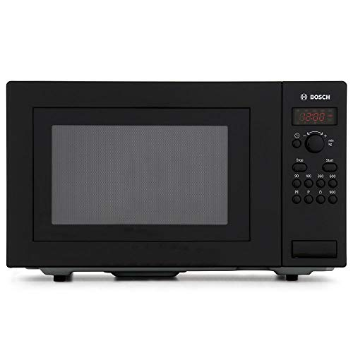Bosch Series 2 HMT84 M461B Black Freestanding Microwave with 900W, 25 litres Capacity, 5 Power Levels and LED Display