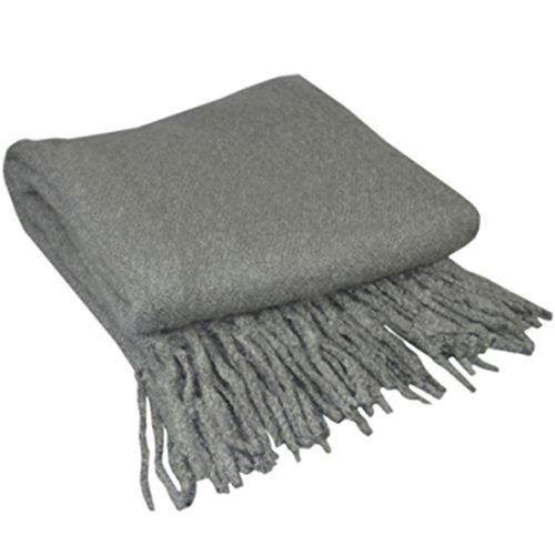 uxcell indigo7autorizado 50/50Bucle Aleación de mohair manta gris