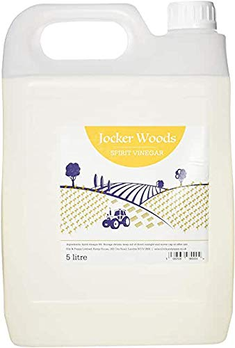 Jocker Woods White Vinegar for Cleaning, Pickling, Marinations & Cooking - Distilled White Vinegar - 5 Litre Bottle - Produced in The UK (1Pack)