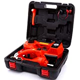 ROGTZ Electric Hydraulic Car Jack Kit with Impact Wrench and Tire Inflator Pump, 5 Ton 12V Car Jack Hydraulic Car for...