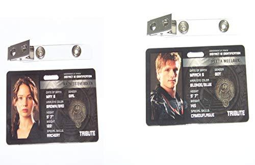 Die Tribute von Panem , Hunger Games , ID - Karte , ID Badge (Katniss + Peeta)