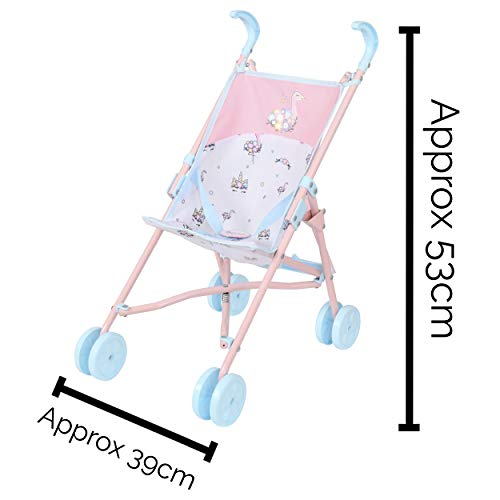 HTI Toys Babyboo Stroller Buggy | Childrens Baby Doll Pram Pushchair Toy Great For Girls & Boys Aged 3+