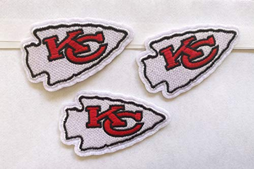 Iron On Patch Kansas City, 3 Pcs Patch, 2.5 Inch Patch for Face Mask, Baseball Patch,Sew On Patch, Embroidered Applique, Badge 3PCS Kansas,Football
