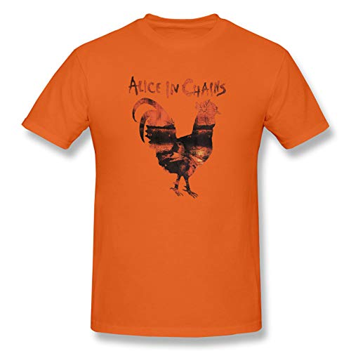 Alice In Chains 'Rooster Dirt' Men's Short Sleeve T-Shirt Rock Soft T Shirts Orange 5XL